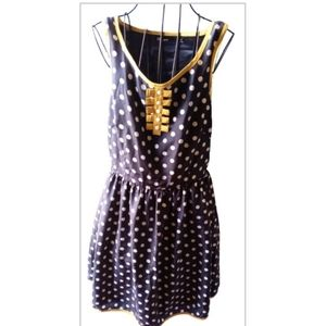 Clear creatures blue white&yellow polka dot dress